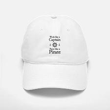 Work Like A Baseball Baseball Captain Party Like A Pirate Baseball Baseball Cap
