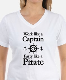 Work Like A Captain Party Like A Pirate Shirt