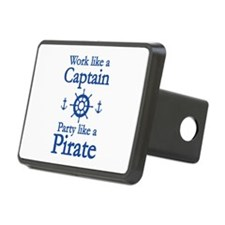 Work Like A Captain Party Like A Pirate Rectangula