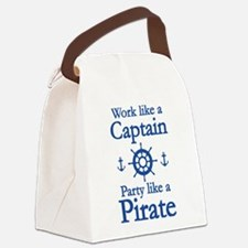 Work Like A Captain Party Like A Pirate Canvas Lun