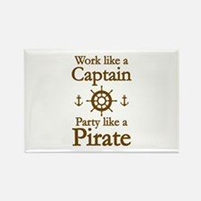 Work Like A Captain Party Like A Pirate Rectangle
