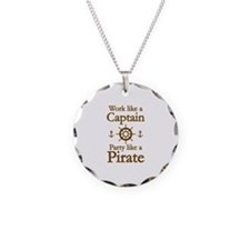 Work Like A Captain Party Like A Pirate Necklace