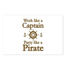 Work Like A Captain Party Like A Pirate Postcards