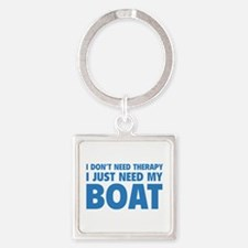 I Just Need My Boat Square Keychain