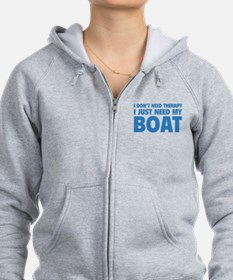 I Just Need My Boat Zip Hoodie
