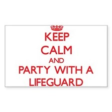 Keep Calm and Party With a Lifeguard Decal