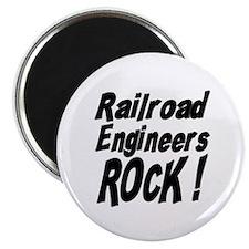 Railroad Engineers Rock ! Magnet