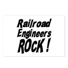 Railroad Engineers Rock ! Postcards (Package of 8)