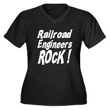Railroad Engineers Rock ! Women's Plus Size V-Neck