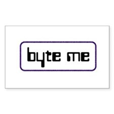 byte me Sticker (Rect.)