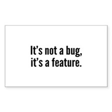 It's not a bug, it's a feature. Decal