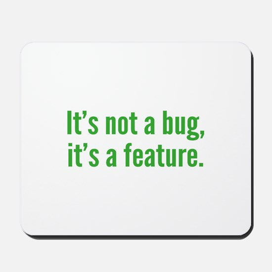 It's not a bug, it's a feature. Mousepad