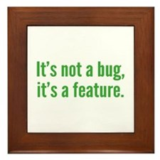 It's not a bug, it's a feature. Framed Tile
