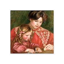 "Renoir - Gabrielle Square Sticker 3"" x 3"""