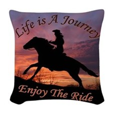 Apprael Life J 20.Png Woven Throw Pillow