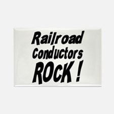 Railroad Conductors Rock ! Rectangle Magnet