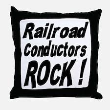 Railroad Conductors Rock ! Throw Pillow