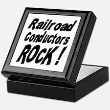 Railroad Conductors Rock ! Keepsake Box