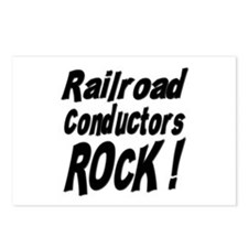 Railroad Conductors Rock ! Postcards (Package of 8