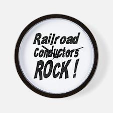 Railroad Conductors Rock ! Wall Clock