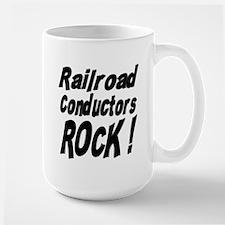 Railroad Conductors Rock ! Large Mug