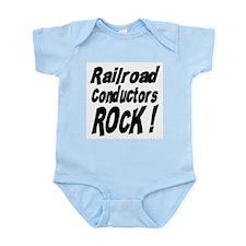 Railroad Conductors Rock ! Infant Bodysuit