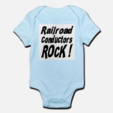 Railroad Conductors Rock ! Infant Bodysuit