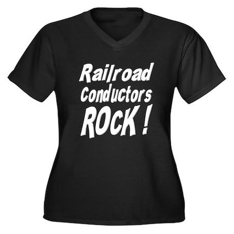 Railroad Conductors Rock ! Women's Plus Size V-Nec
