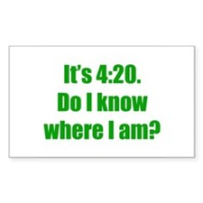 It's 4:20 Rectangle Decal