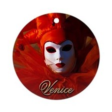 Carnival Mask Ornament (Round)
