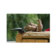 Prairie Dog Soldiers Rectangle Magnet