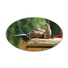 Prairie Dog Soldiers 35x21 Oval Wall Decal
