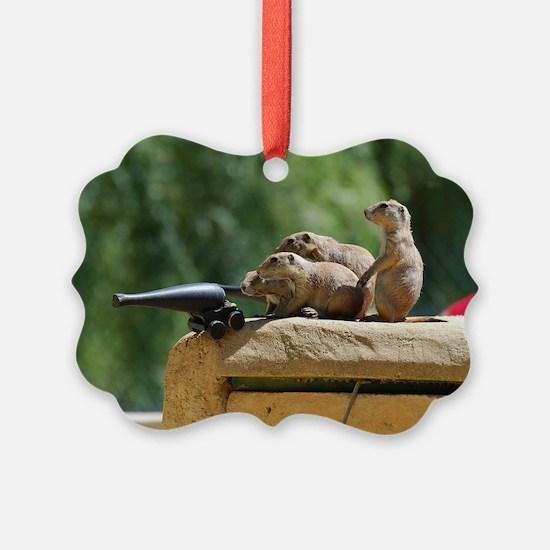 Prairie Dog Soldiers Ornament