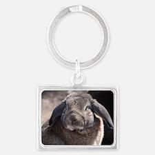 Lop Eared Rabbit Landscape Keychain