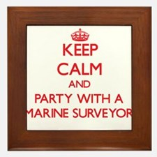 Keep Calm and Party With a Marine Surveyor Framed