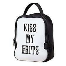 Kiss My Grits Neoprene Lunch Bag