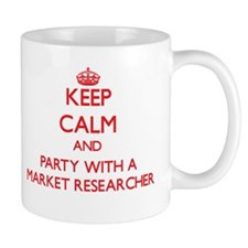 Keep Calm and Party With a Market Researcher Mugs