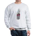 Snowy Owl On Park Service Sign Sweatshirt