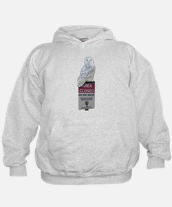 Snowy Owl On Park Service Sign Hoodie