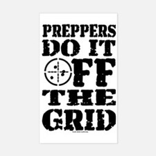 Preppers Do It Off The Grid Decal