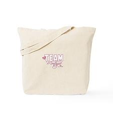 Team Montague-Cursive Tote Bag
