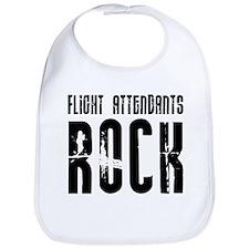 Flight Attendants Rock Bib