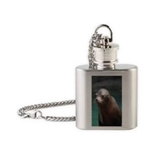 Adorable Sea Lion Flask Necklace