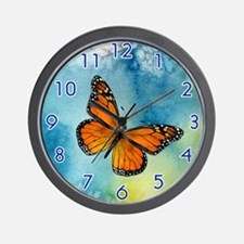 Monarch Butterfly Wall Clock