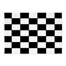 Checkered Pattern 5'x7'Area Rug