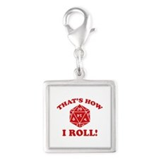 That's How I Roll! Silver Square Charm