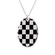 Checkered Pattern Necklace
