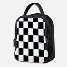 Checkered Pattern Neoprene Lunch Bag