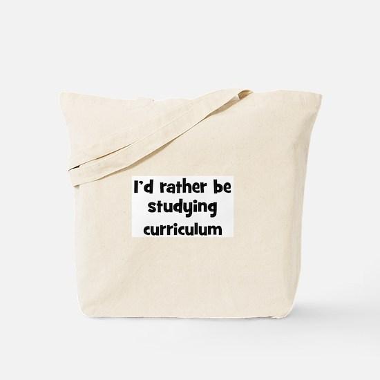 Study curriculum Tote Bag