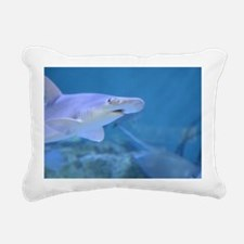 Bonnethead Shark Underwa Rectangular Canvas Pillow
